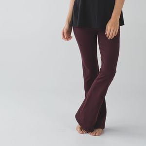 Lululemon Maroon Groove Pants